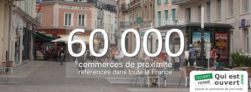 Plus de 60000 commerces de proximité référencés dans toute la France