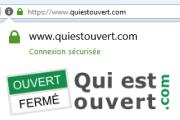Quiestouvert.com passe à la connexion sécurisée en HTTPS